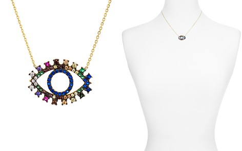 "Aqua Multi Color Eye Pendant Necklace, 15"" - 100% Exclusive - Bloomingdale's_2"