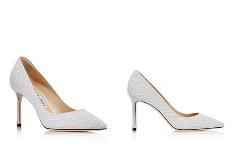 Jimmy Choo Women's Romy 85 Embossed Leather High Heel Pointed Toe Pumps - Bloomingdale's_2