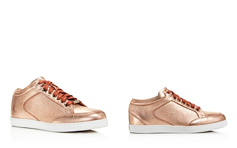 Jimmy Choo Women's Miami Metallic Leather Low Top Sneakers - Bloomingdale's_2