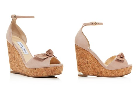 Jimmy Choo Women's Dessie 120 Suede Platform Wedge Peep Toe Sandals - Bloomingdale's_2