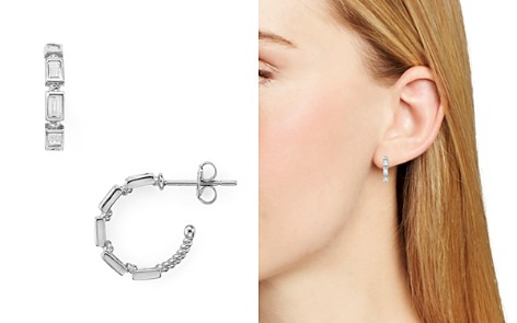 AQUA Small Baguette Hoop Earrings - 100% Exclusive - Bloomingdale's_2