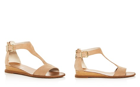 Kenneth Cole Women's Judd Suede T-Strap Demi Wedge Sandals - Bloomingdale's_2
