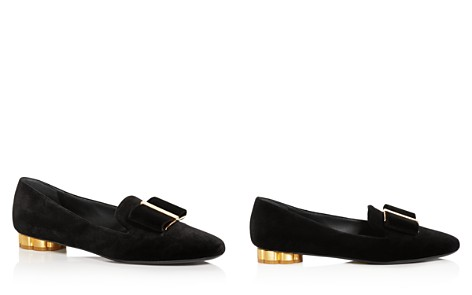 Salvatore Ferragamo Women's Sarno Velvet Flower Heel Loafers - Bloomingdale's_2