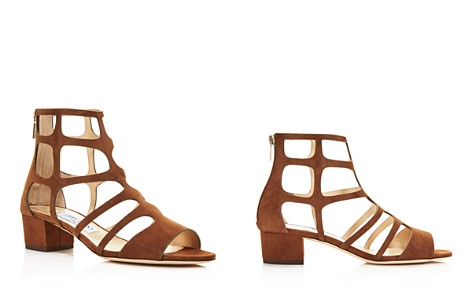 Jimmy Choo Women's Ren 35 Suede Caged Block Heel Sandals - Bloomingdale's_2