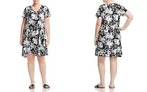 Marc New York Performance Plus Floral-Print Asymmetric Shift Dress - Bloomingdale's_2