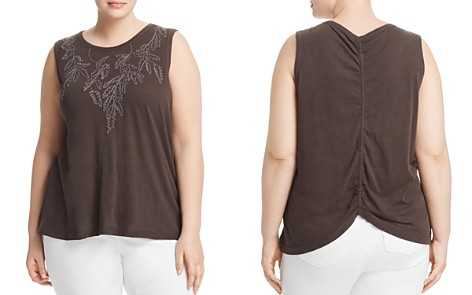 Lucky Brand Plus Tonal-Embroidered Tank - Bloomingdale's_2