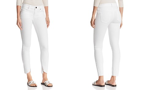 True Religion Halle Mid Rise Super Skinny Jeans in Optic White - Bloomingdale's_2