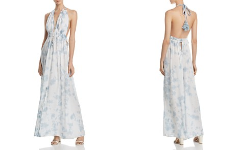 AQUA Tie-Dye Halter Maxi Dress - 100% Exclusive - Bloomingdale's_2
