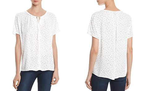 AQUA Star Print Split-Neck Top - 100% Exclusive - Bloomingdale's_2