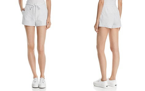 AQUA Scalloped Striped Linen Shorts - 100% Exclusive - Bloomingdale's_2