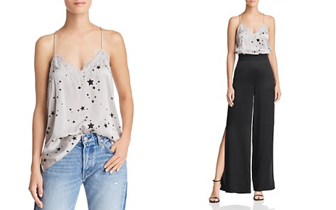 CAMI NYC Lace-Trimmed Star-Print Silk Top - Bloomingdale's_2