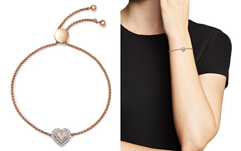 Bloomingdale's Diamond Heart Bolo Bracelet in 14K White Gold & Rose Gold, 0.50 ct. t.w. - 100% Exclusive _2