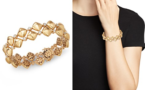 Bloomingdale's Diamond & Puff Pyramid Bracelet in 18K Yellow Gold, 2.0 ct. t.w. - 100% Exclusive _2