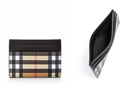 Burberry Sandon Vintage Check & Leather Card Case - Bloomingdale's_2