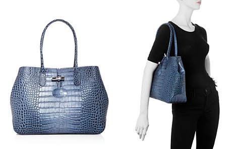Longchamp Roseau Croc Embossed Leather Tote - Bloomingdale's_2