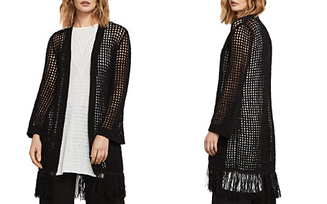 BCBGMAXAZRIA Fringed Open-Knit Cardigan - Bloomingdale's_2