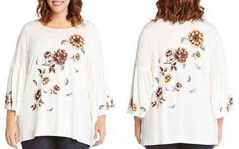 Karen Kane Plus Floral Bell Sleeve Swing Top - Bloomingdale's_2