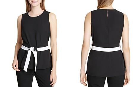 Calvin Klein Sleeveless Belted Top - Bloomingdale's_2