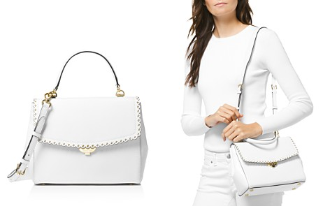 Michael Kors Ava Medium Scalloped Leather Satchel - Bloomingdale's_2