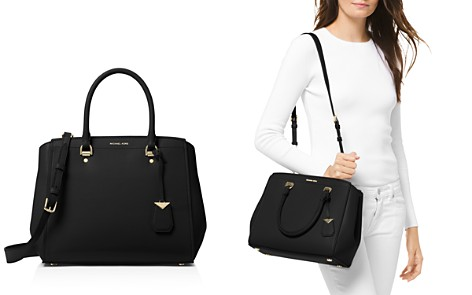Michael Kors Benning Large Leather Satchel - Bloomingdale's_2