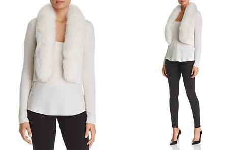 C by Bloomingdale's Fox Fur-Trim Cashmere Bolero - 100% Exclusive _2