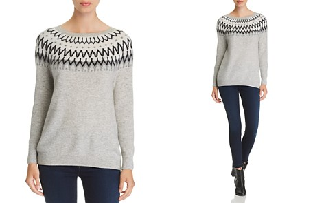 C by Bloomingdale's Fair Isle Cashmere Sweater - 100% Exclusive _2