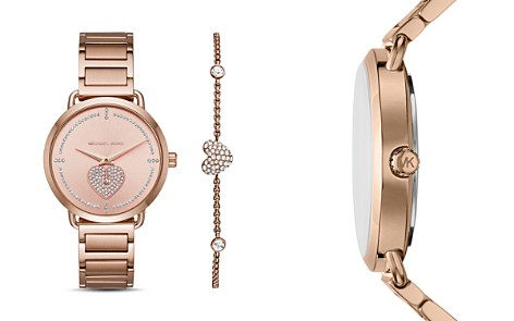 Michael Kors Rose Gold-Tone Portia Watch, 36.5mm - Bloomingdale's_2