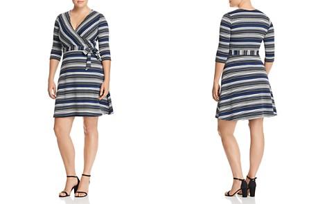 Leota Plus Striped Faux-Wrap Dress - Bloomingdale's_2