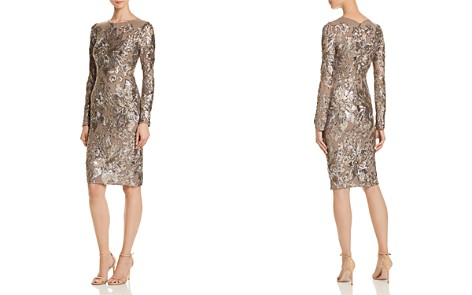AQUA Sequined Cocktail Dress - 100% Exclusive - Bloomingdale's_2