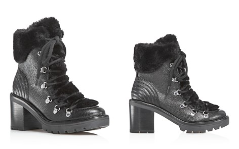 Marc Fisher LTD. Daven Leather & Faux-Fur Cuff Lace Up Booties - 100% Exclusive - Bloomingdale's_2