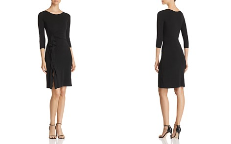 Emporio Armani Side Ruffled A-Line Dress - Bloomingdale's_2