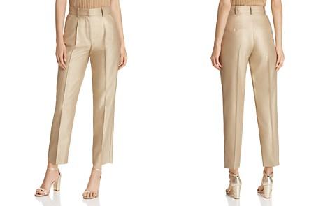 Emporio Armani Cropped Metallic Pants - Bloomingdale's_2