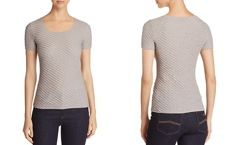 Emporio Armani Textured Knit Stretch Top - Bloomingdale's_2