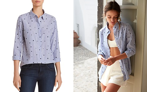 Rails Taylor Flocked Striped Shirt - Bloomingdale's_2