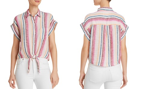 Rails Amelie Tie-Front Striped Shirt - Bloomingdale's_2