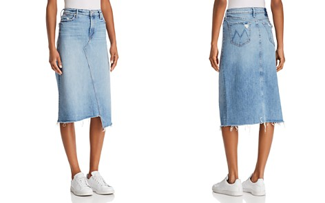 MOTHER Step-Hem Denim Midi Skirt in Misbeliever - Bloomingdale's_2
