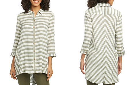 Foxcroft Shirlyn Striped High/Low Tunic Shirt - Bloomingdale's_2