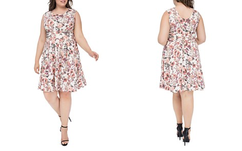B Collection by Bobeau Curvy Skye Floral-Print Fit-and-Flare Dress - Bloomingdale's_2