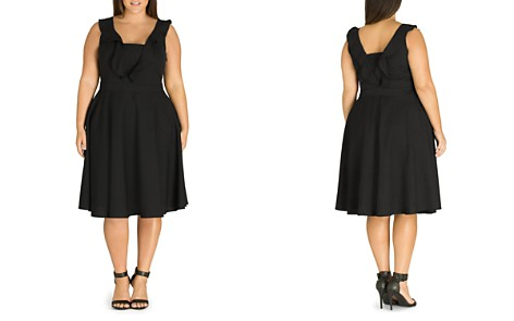 City Chic Plus Flirty Flutter Dress - Bloomingdale's_2