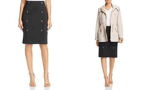 Calvin Klein Button-Front Pencil Skirt - Bloomingdale's_2
