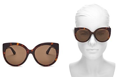 Gucci Oversized Cat Eye Sunglasses, 57mm - Bloomingdale's_2