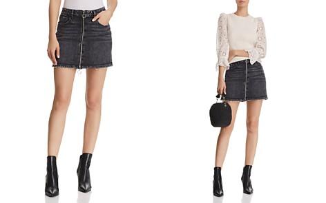 PAIGE Aideen Denim Mini Skirt in Myra - Bloomingdale's_2
