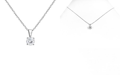 Bloomingdale's Diamond Solitaire Necklace in 14K White Gold, 0.75 ct. t.w. - 100% Exclusive _2