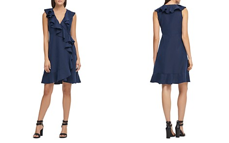 Donna Karan Ruffled Wrap Dress - Bloomingdale's_2