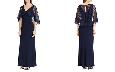Lauren Ralph Lauren Lace-Overlay Jersey Gown - Bloomingdale's_2