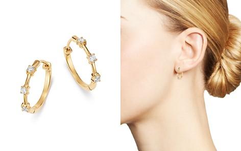 Bloomingdale's Diamond Trio Mini Hoop Earrings in 14K Yellow Gold, 0.21 ct. t.w. - 100% Exclusive _2