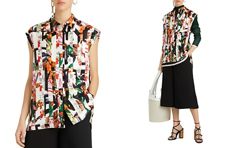 Burberry Hen Archive Print Mulberry Silk Top - Bloomingdale's_2