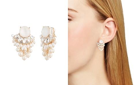 Carolee Cultured Freshwater Pearl Cer Clip On Earrings Bloomingdale S 2