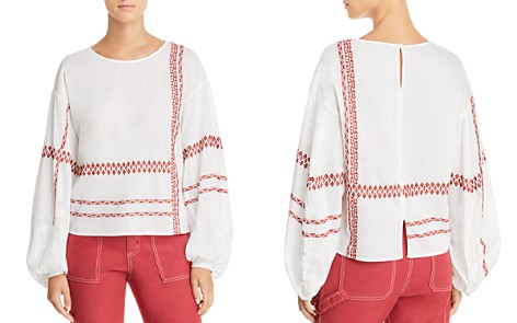 Joie Isandro Embroidered Top - Bloomingdale's_2