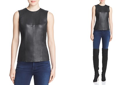Theory Modern Leather-Front Shell - Bloomingdale's_2
